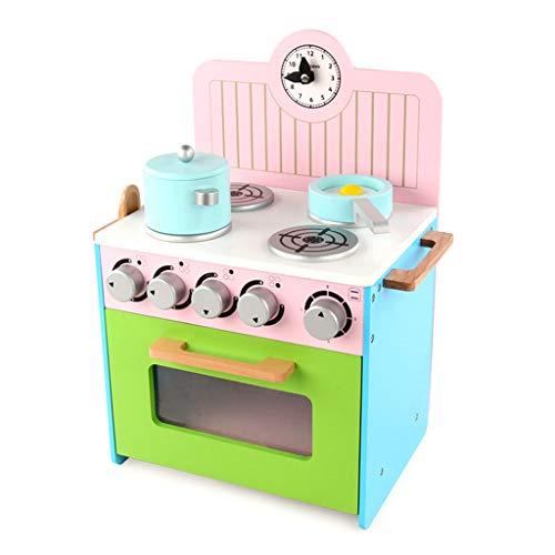 ASDG Giocattoli per Bambini Simulazione Play House Kitchen Cucina Giocattoli da Cucina in Legno