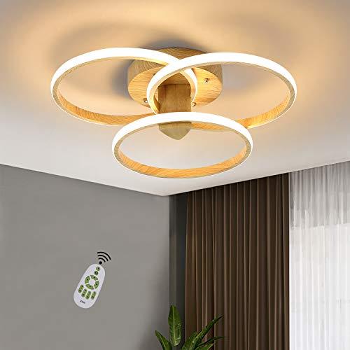 Plafón de techo ZMH Anillo LED Plafón de techo 55W Lámpara de salón fabricada en Aluminio Diseño moderno para dormitorio, cocina, salón, estudio
