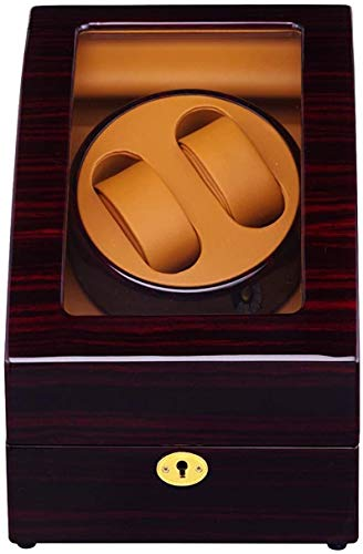 Ronglibai Caja Relojes automaticos Watch Winder Mobile Phone Box - Automatic Watch Winder escaparate Caja de Reloj Watch Winder Piel Reloj automático con la Cerradura 2 2 + 3