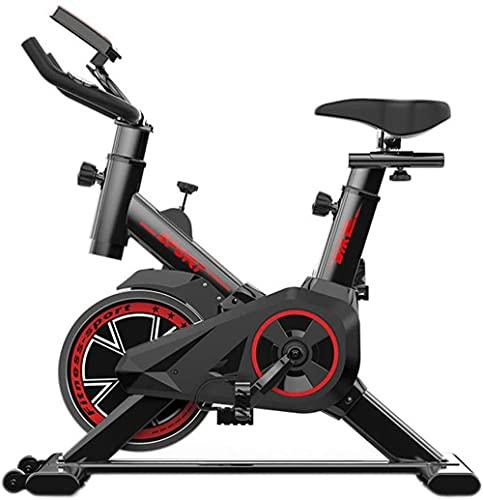Bicicleta D Apartamento Entrenamiento aeróbico Interior en Estudio Vertical Manilla Y SENSORES DE FRECUENCIA del CORAZÓN Ajustable del CORAZÓN Peso máximo de Carga: 120 kg