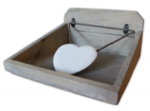 Gisela Graham Distressed Wooden Napkin Holder by Gisela