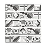 Geométrica Del Modelo Del Estilo Azulejo Pegatinas Despegar Y Pegar Entrepaños De Cocina Muebles De Escalera Pegatinas Adhesivos Decoración, 7.9''W X 39.4''L (Juego De 5PCS),Grey01