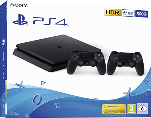 Playstation 4 (PS4) - Consola 500 Gb + 2 Mandos Dual Shock 4 (Edición