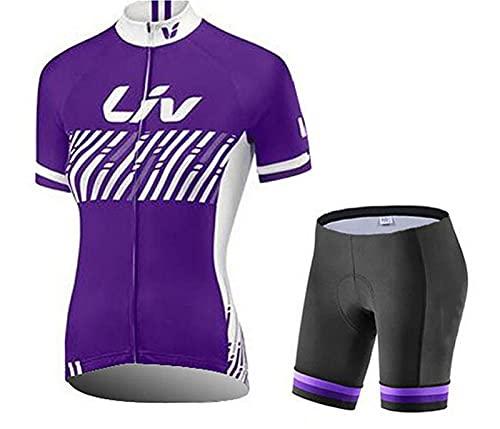 NAXIAOTIAO Verano De Manga Corta Ciclismo Bicicleta Jersey Moisture Wicking Transpirable Montaña Seco Rápido Camisa De Ciclismo,B,XS