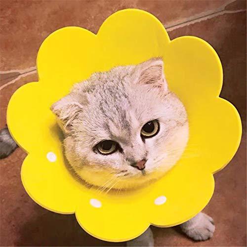 Collares Perros Mascotas Pet Elizabeth Circle Collar Gato Curación De Heridas Médico Anti Mordedura Sun Flower Toalla De Saliva Paño De Fieltro Cuello De Gato Manga De Recuperación