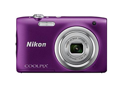 "Nikon COOLPIX A100 - Cámara Digital (Cámara compacta, 1/2.3"", 4,6-23 mm, Auto), Morada"