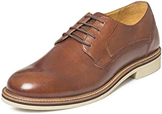 TONI ROSSI Men's Spettare Tan Leather Formal Shoes