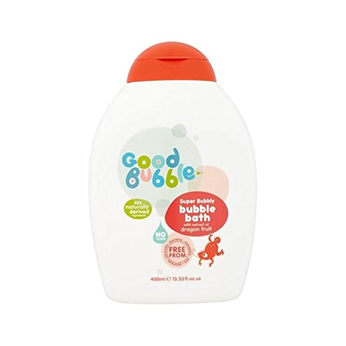 トランペット変形するグラスドラゴンフルーツエキスの400ミリリットルと泡風呂 (Good Bubble) (x 4) - Good Bubble Bubble Bath with Dragon Fruit Extract 400ml (Pack of 4) [並行輸入品]