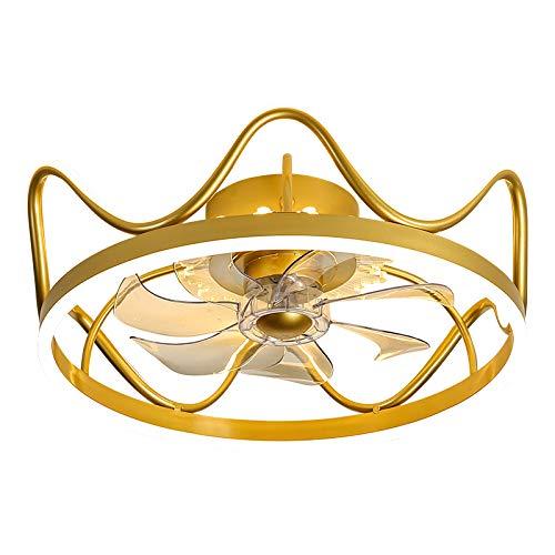 JUULLN Dormitorio Decoración LED Ventilador de Techo Invisible Lámpara Luz Lámpara Comedor Techo Fans con Luces Lámparas de Control Remoto para Sala de Estar (Blade Color : 12, Voltage : 110V)
