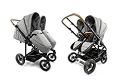 Recommended for baby from Birth to 50 lbs per seat. Two independently reversible seats with 5 point harness, adjustable footrest and full recline backrest for comforable sleep and easy diaper changes. Maximum weight limit 50 lbs per seat. independent...