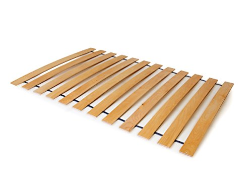 moebel-eins ACHAT Lattenrost Rollrost, Federleisten aus Stabiler Buche, TÜV Zertifiziert, 90 x 200