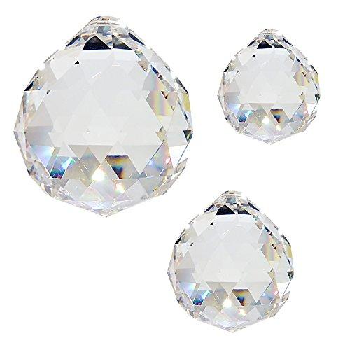 Christoph Palm lichten kristallen glazen bol ø 20 + 30 + 40 mm 30% Pbo om op te hangen vensterversiering voor Feng Shui en Waldorf