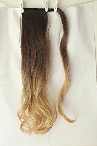 Extensión de pelo ondulado con clip de 50,8 cm de largo, mechas...