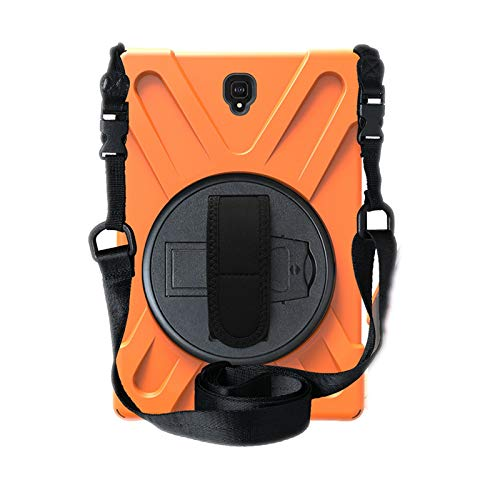 OKZone Hülle für Galaxy Tab S4 10.5,360 Grad Drehständer/Handschlaufe/Schultergurt Ultra Hybrid Stoßfest Full Body Schutzhülle für Neue Samsung Galaxy Tab S4 10.5 (SM-T835) (Orange)