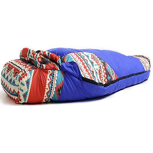 Erwachsene Schlafsack Ethnische Art Erwachsener Schlafsack All Season Camping Maxi-warm und leicht Stitching-Umschlag-Schlafsack 100% wasserdicht Compression Tragetasche Ideal for Wanderrucksäcke Mumm