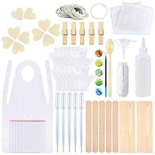 N/Y Kit de tinte anudado, herramientas de teñido anudado de tela para grupos de fiestas infantiles, con bandas de goma, guantes, bolsas selladas, delantales, mantel y herramientas