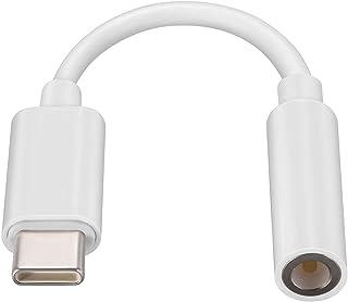 Type C to 3.5MM イヤホン変換ケーブル 音声通話・音楽・音量調節 Type-Cポートのデバイスに対応ヘッドフォンアダプター 変換ケーブル 【USB C to 3.5mm 4極イヤホン端子 (通話対応) 】 高耐久 ハイレゾ