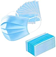 SWADESI STUFF Non-Woven Fabric Disposable Surgical 3 Ply Face Mask (Blue, Without Valve, Pack of 100) for Unisex