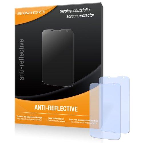 SWIDO Bildschirmschutz für Huawei Ascend G730 [4 Stück] Anti-Reflex MATT Entspiegelnd, Hoher Festigkeitgrad, Schutz vor Kratzer/Glasfolie, Schutzfolie, Bildschirmschutzfolie, Panzerglas Folie