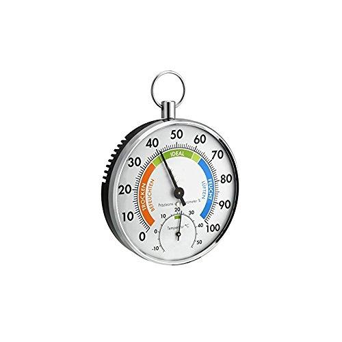 Durshani Termo Igrometro analogico, Doppia Funzione, Strumento Precisione, Interni Esterno Casa umidità by