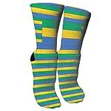 Bosbweo El equipo de la bandera de Gabón calza los calcetines elegantes de la novedad adecuados para correr deportes que van de excursión