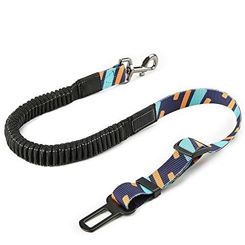 Cinturón Seguridad Perro Coche Cinturón De Seguridad Duradero para Perro Cinturón De Seguridad Ajustable para Mascotas Resistente Elástico para Accesorios De Vehículos Azul