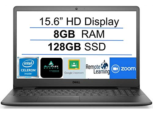 "2021 Newest Dell Inspiron 15 Business Laptop Computer: 15.6"" HD Display, Intel Dual-Core Celeron N4020(Up to 2.8GHz), 8GB RAM, 128GB SSD, WiFi, Bluetooth, HDMI, Webcam, Windows 10 S, Gift Mousepad"
