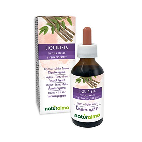 Süßholz oder Lakritz (Glycyrrhiza glabra) Wurzeln Alkoholfreier Urtinktur Naturalma | Flüssig-Extrakt Tropfen 100 ml | Nahrungsergänzungsmittel | Veganer