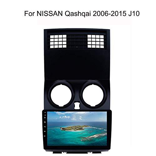 LFEWOZ Nav para Nissan Qashqai Dispositivo 2006-2015 J10 navegación estéreo con 9 Pulgadas de Pantalla táctil de navegación de Coches Android WiFi/BT Compartir Internet Soporte para SD 64g