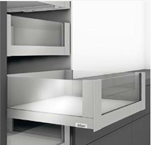 RONIN FURNITURE FITTINGS® BLUM LEGRABOX pure/free Glaseinschubelement vorne für KB=900mm/19erSeiten Höhe 138mm, Klarglas ZE7W782G