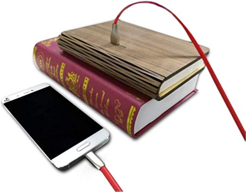 Hlzernes Buchlicht, LED-Buchlicht Kann Als Mobile Stromquelle Mit Magnetischem Holz Faltbarem Buchlicht, Walnuss Farbe Verwendet Werden