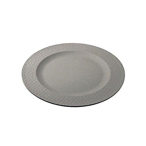 zuperzozial Großer Teller, gehämmert, Grau