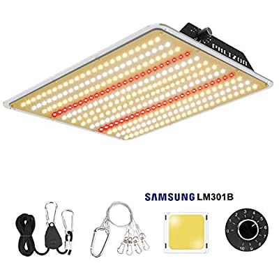 Phlizon Newest 1000W LM301B Dimmable Plant LED Grow Light Full Spectrum Grow Lamp for Indoor Plants Waterproof Zero Noise LED Growing Light with Samsung LM301B SMD Chips