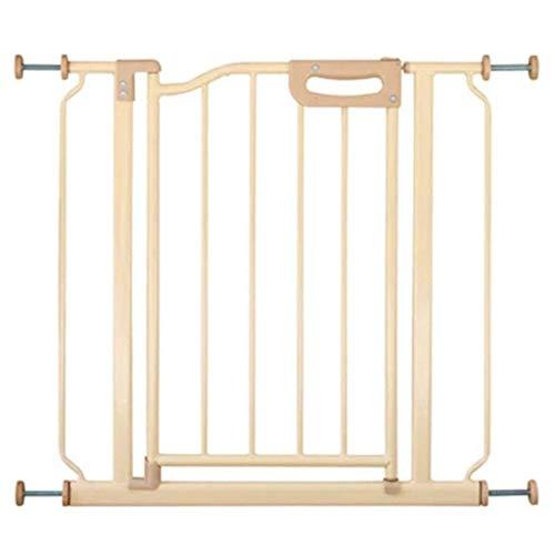 BSQT Kratka na schody dla niemowląt brama bezpieczeństwa Easy Swing & Lock-Baby-Tbrama Extra Wide Schody i korytarz przez bramkę zabezpieczającą przed dziećmi 60-109 cm Szeroki montaż bariery dla psów (rozmiar: 81-93 cm)