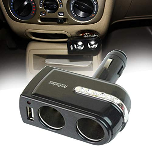 NAttnJf - Adaptador Universal para mechero de Coche para iPhone XS MAX XR X 8/7/6/6 S Plus Samsung Galaxy S5/S6/S7/S8/S9 Nota 9 8