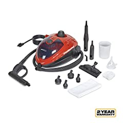 CAR STEAM CLEANER: The SteamMachine uses pressurized, 290°F high-temperature steam to loosen and dissolve dirt, cut grease, and grime, expel stains, and disinfect your vehicle. This steamer is versatile and can be used for a wide variety of car clean...