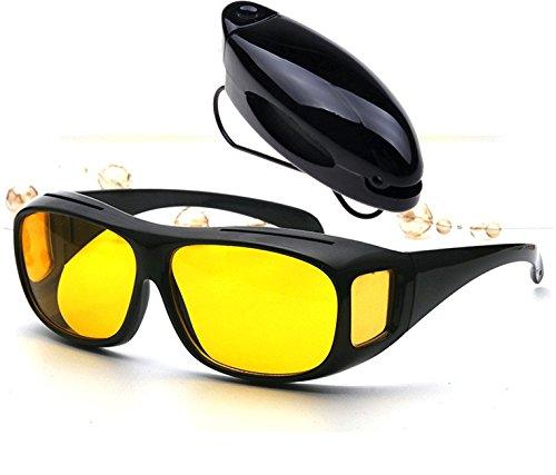 Saulmann ► Kontrast Fahrbrille mit UV-Schutz gegen blendendes Licht und Antireflexbeschichtung. Blendschutzbrille mit hoher Kontrastverstärkung für scharfes Sehen bei schwierigem Licht.