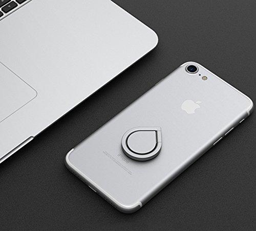 360° drehbarer Smartphone Fingerhalter (Schwarz) - 9