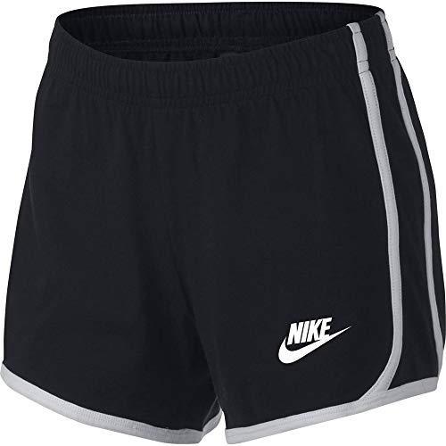 Nike Girls' Sportswear Jersey Shorts - Black, Large
