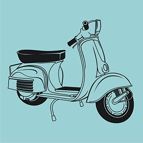 GUDOJK Muursticker Muursticker Slaapkamer Art-Scooter Retro Sticker Woonkamer Lounge Mod Motorfiets Muurstickers Home Interieur Decor