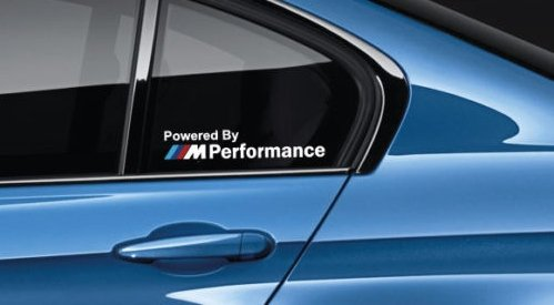 SUPERSTICKI Powered by M Performance Decal Sticker Logo M Power M3 M5 Multi Color Pair aus Hochleistungsfolie Aufkleber Autoaufklebe