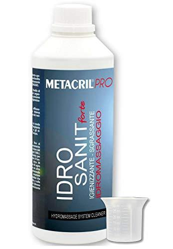 Metacril Idro Sanit Forte 500 ml + dosificador graduado. Solución limpiadora y desengrasante para bañera de hidromasaje (Teuco, Albatros,Jacuzzi,etc).