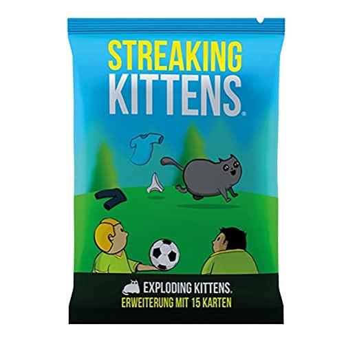 Asmodee Exploding Kittens - Streaking Kittens, Erweiterung, Partyspiel, Kartenspiel, Deutsch