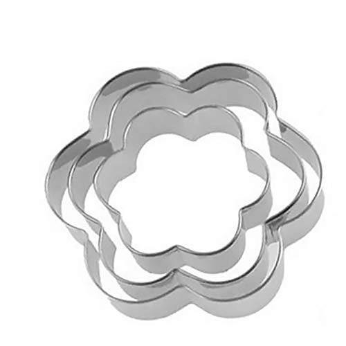 Mingtongli Biskuit-Form-Plätzchen-Backen-Form Edelstahl, Gemüse, Obst Biscuit Slicer, 3 PC/Satz, Blume