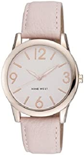 Nine West NW1158PKRG Reloj para Mujer Redondo, Análogo, color Rosa/Oro (Rose / Gold)