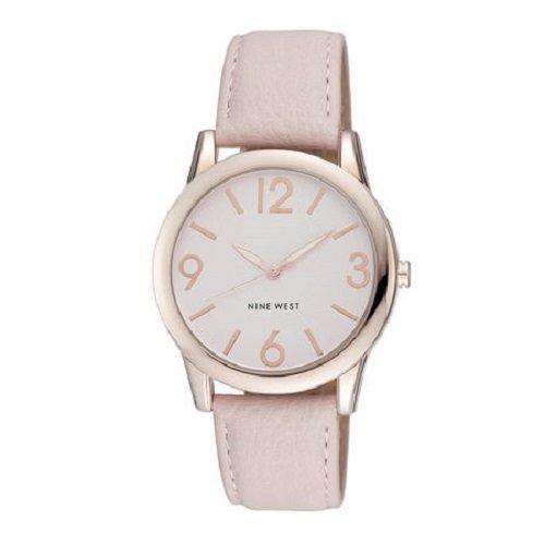Nine West Mujer NW/1158PKRG Round Rose Gold-Tone Pink Strap Reloj