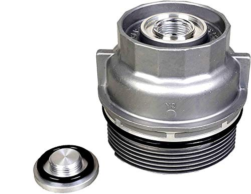 15620-31060. Oil Filter housing Cover ,Compatible with Toyota 4Runner Avalon Camry Fj Cruiser Highlander RAV4 Sienna Tacoma Tundra Venza more. Replace 15620-31060 1562031060 15643-31050(Aluminum)