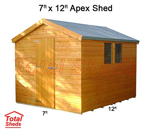 Total Sheds 12ft (3.6m) x 7ft (2.1m) Shed Apex Shed Garden Shed Timber Shed