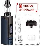 Cigarette électronique, kit Armor Vape, batterie rechargeable 2000mAh et atomiseur de vapeur à affichage DEL, facile à utiliser - sans nicotine ni liquide E (bleu)