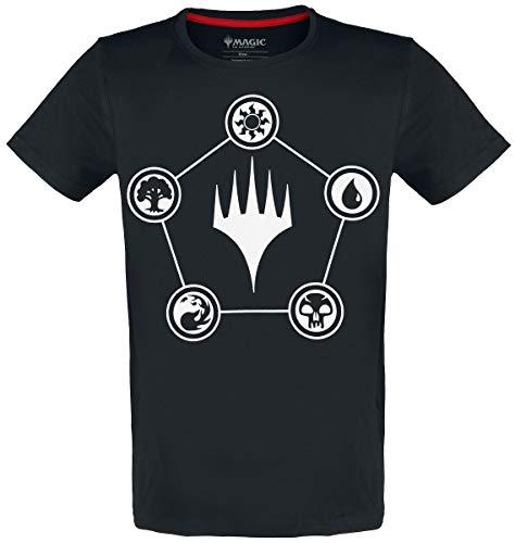 Magic: The Gathering Mana Männer T-Shirt schwarz M 100% Baumwolle Fan-Merch, Gaming, Tabletop